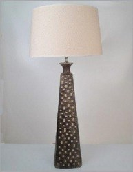 Table Lamp with Natural Cotton Drum Shade