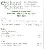 takeaway menu example