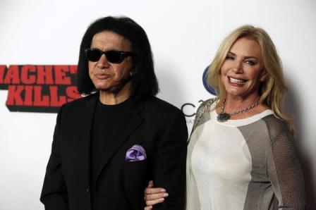 Gene Simmons and Shannon Tweed in Los Angeles, October 2013