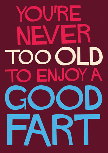 You're Never Too Old To Enjoy A Good Fart Funny Birthday