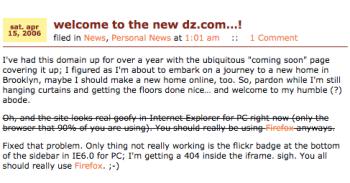 2006: I fancied myself a designer here.