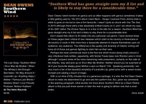 County Music People Review - Dean Owens - Southern Wind