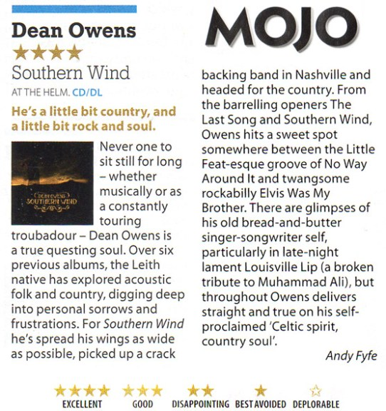 Mojo review - Southern Wind - 4 stars