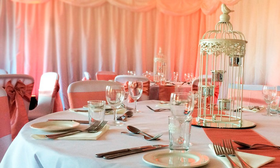 wedding chair cover hire bedford storage box full room drapes for venues draping northamptonshire