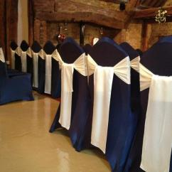 Cream Chair Covers For Weddings Buy Beach Chairs The Notley Tythe Barn Using Their Navy With Our Satin