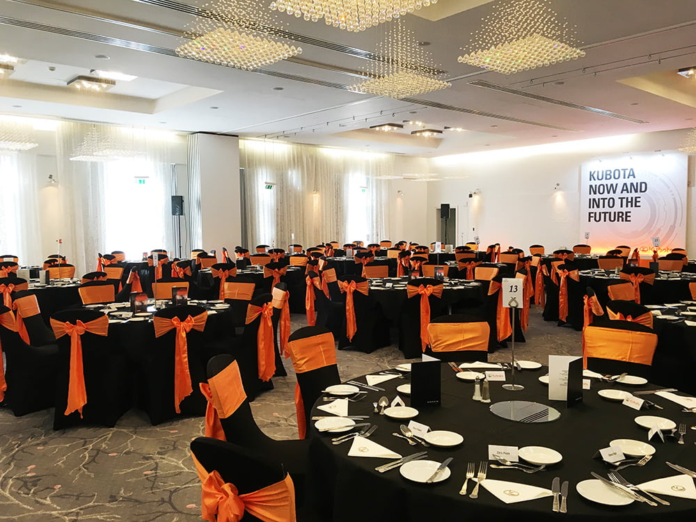 black chair covers to hire bergere and ottoman corporate event styling in high wycombe deans for