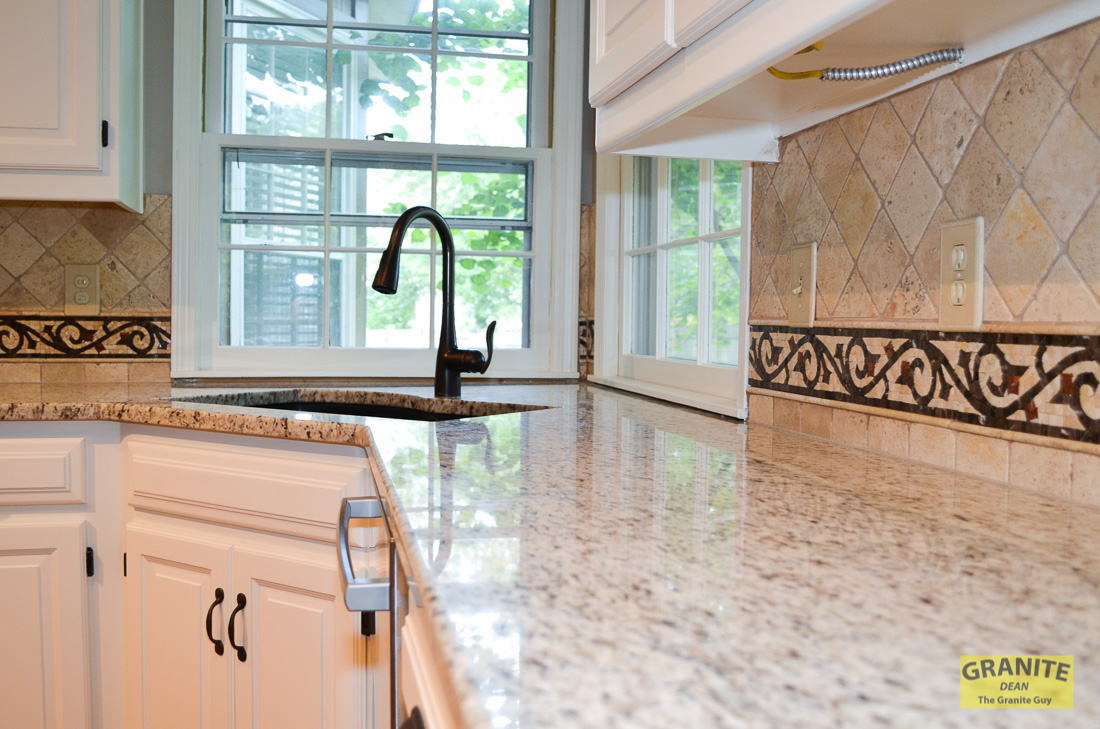 moen bronze kitchen faucet islands at home depot angela & mike's new granite countertops match cabinets ...