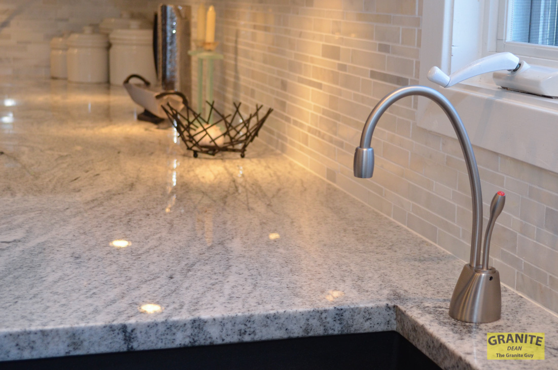 kitchen sink with backsplash under the cabinet tv for siberian white granite makes this contemporary ...