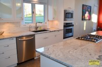 Siberian White Granite Makes this Contemporary Kitchen ...