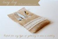 Easy #DIY+Tutorial for Creating Burlap & Lace Utensil ...