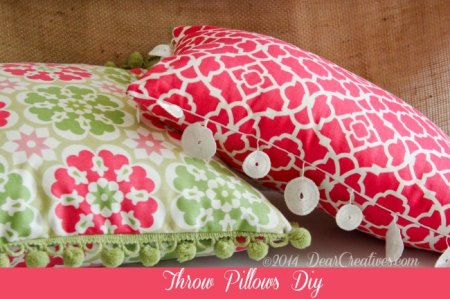 DIY Throw Pillows by DearCreatives