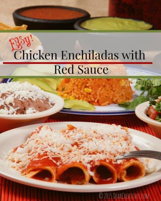 Easy Recipe | Mexican Dinner with Chicken Enchiladas | How to make Enchiladas