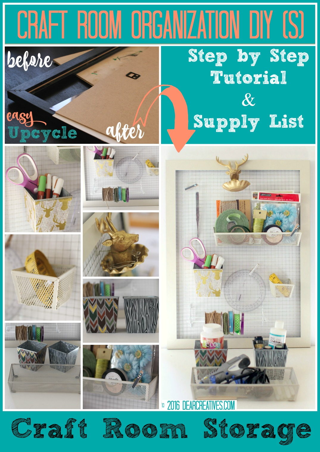 Craft Storage Wall Organizer See How To Make This Organizer