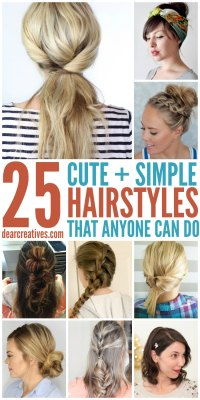 Hairstyles: Simple Hairstyles For Long Hair That Anyone ...