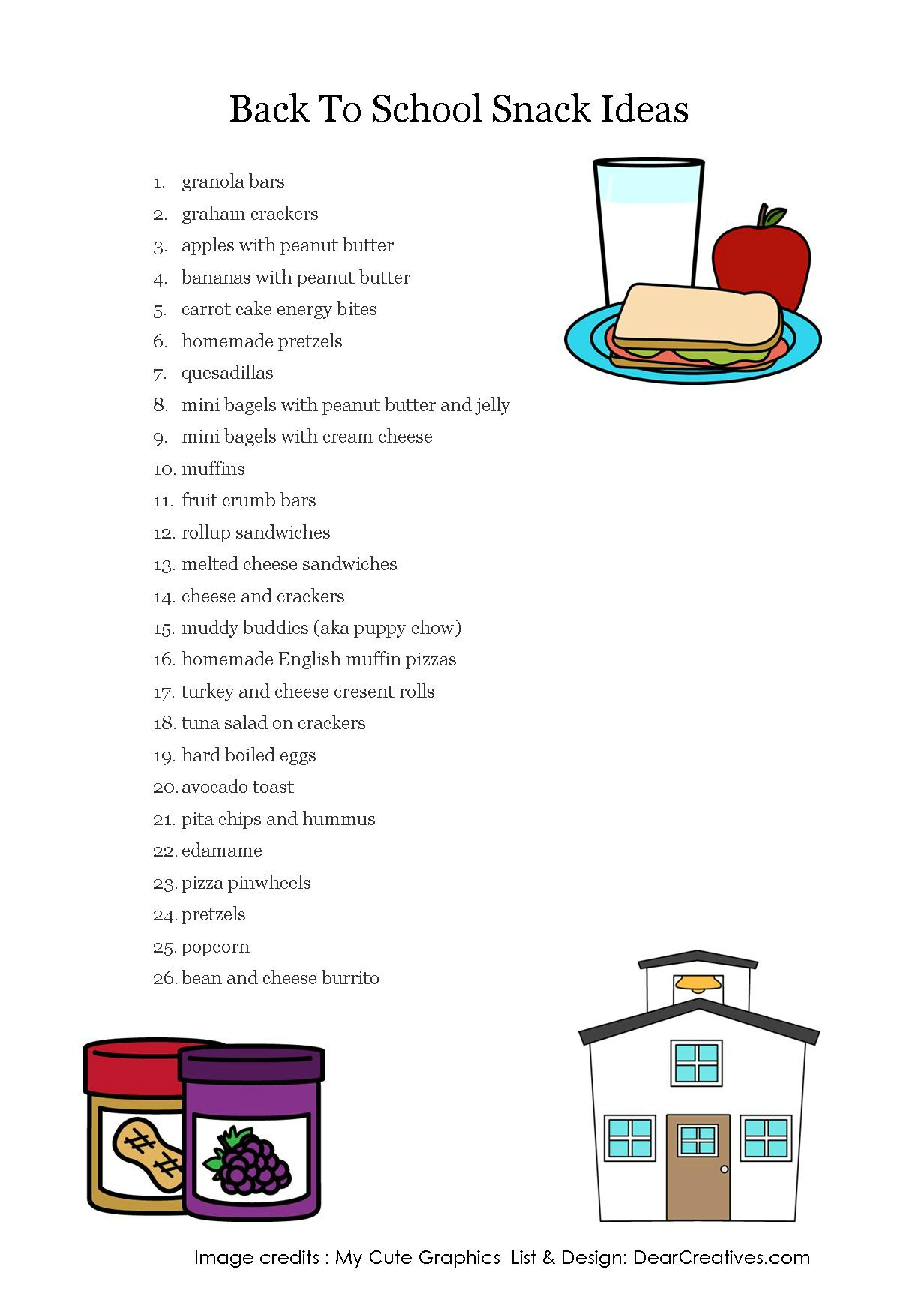 Snack Ideas And Recipes Backtoschool Snacks Your Kids Will Love