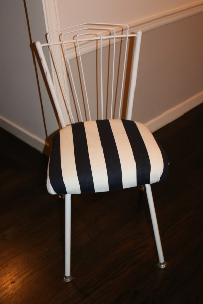 thrifty thursday: reupholstering & revamping old dining chairs