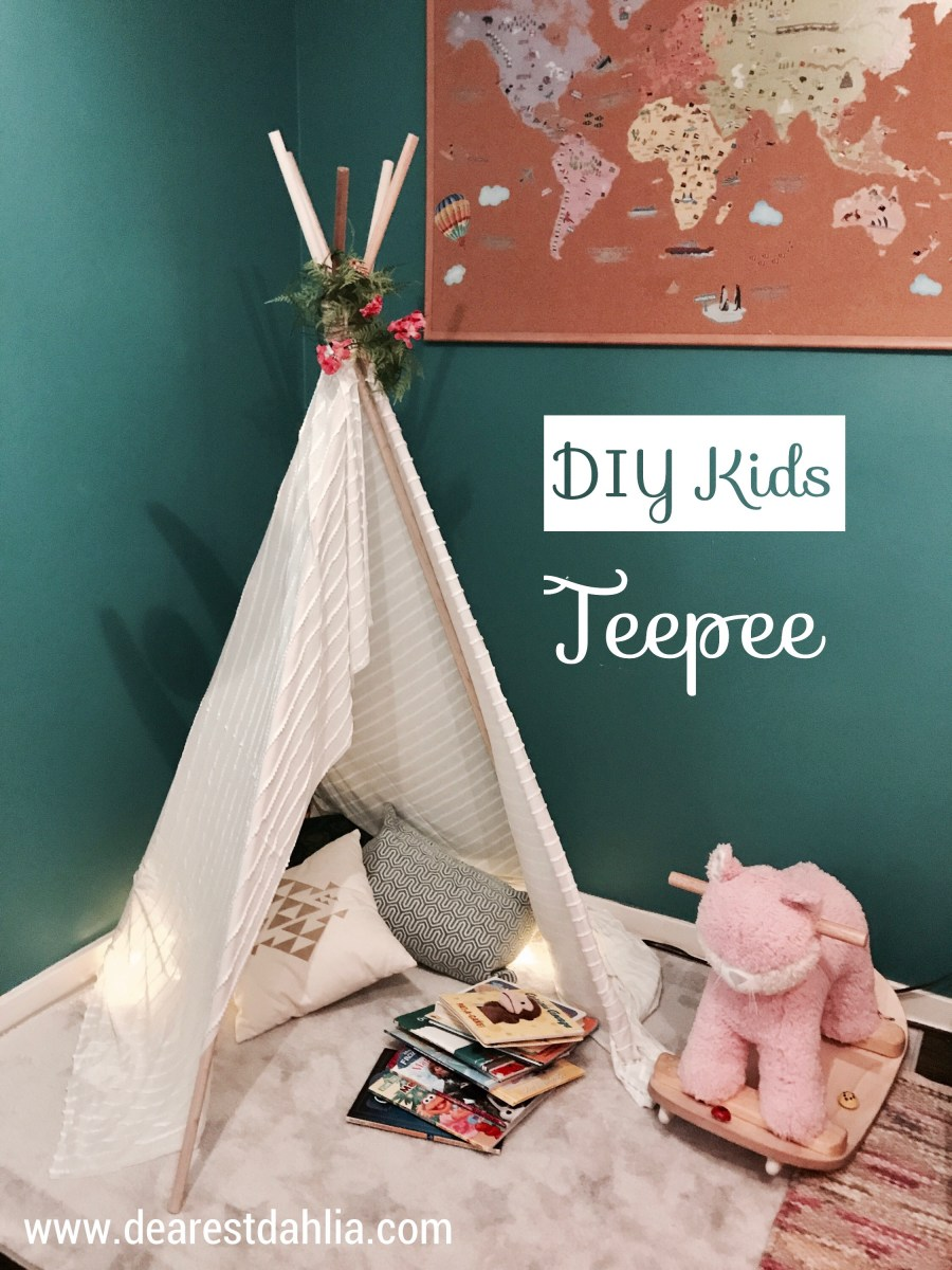 Make it Monday: DIY No-Sew Kids Teepee