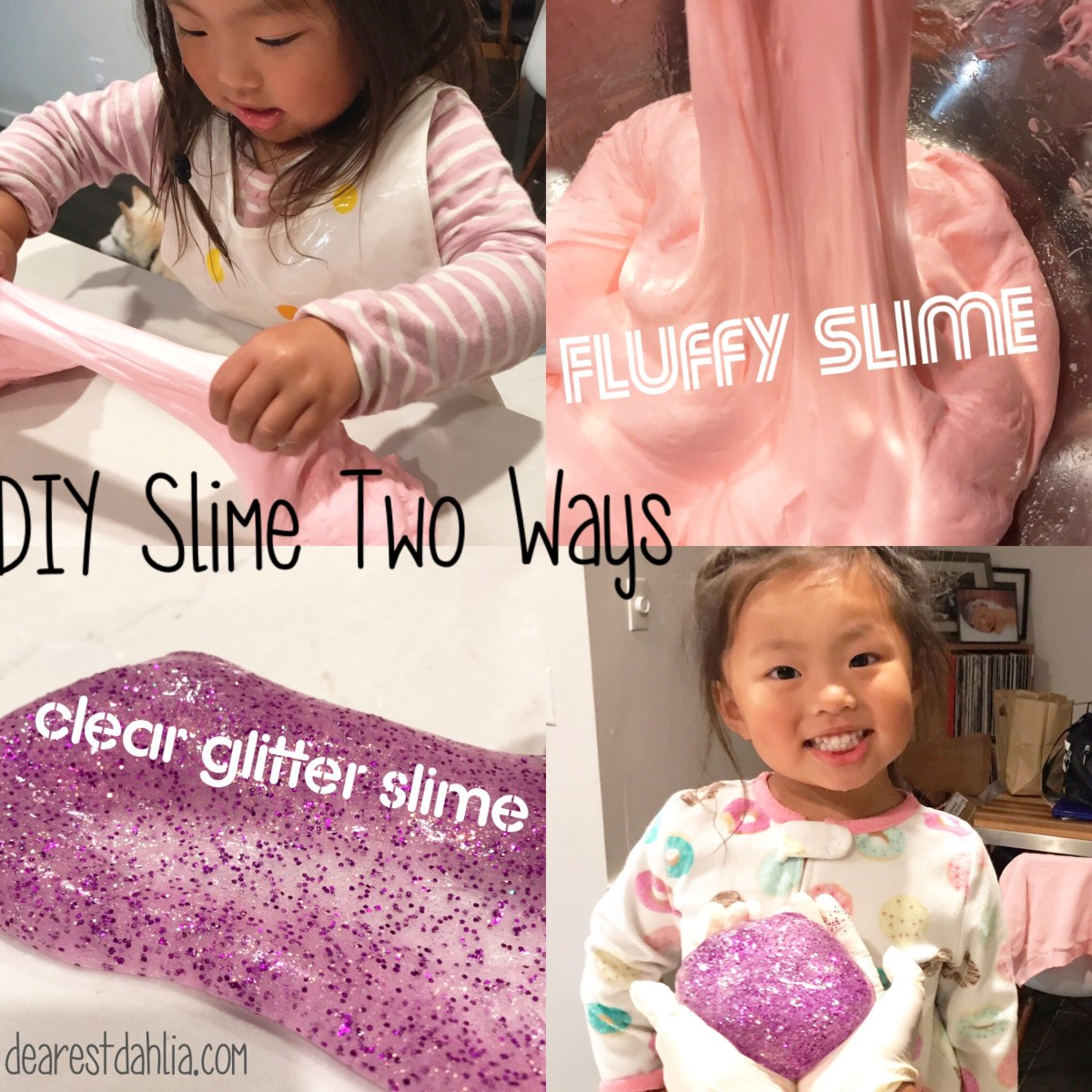 Make it Monday: DIY Slime Two Ways - Fluffly Slime and Glitter Slime