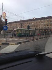Tram in the Piazza Castello