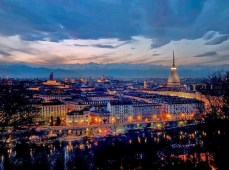 Turin from the hills - sunset