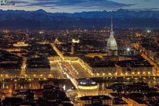 Turin sight from the hills