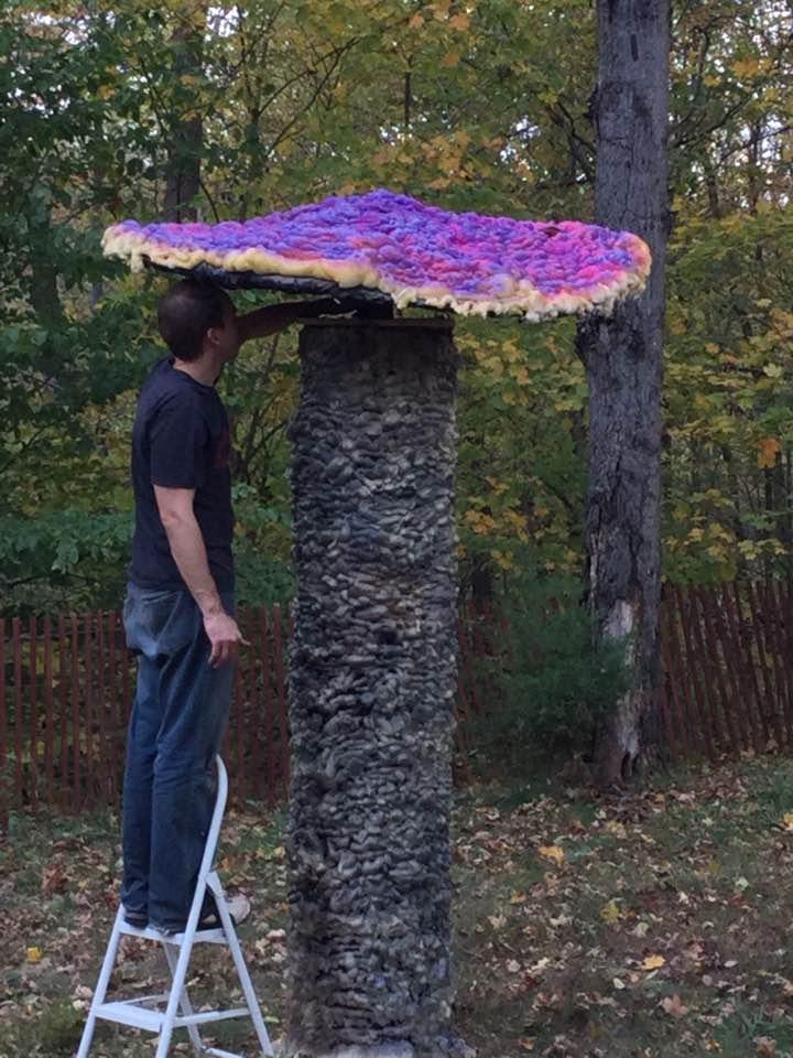 Giant homemade mushroom prop
