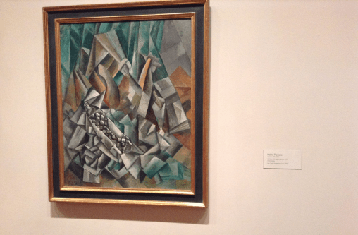 Picasso - Still Life with Liqueur Bottle, 1909 (MoMA)