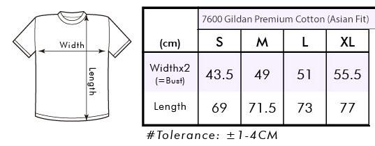 Karena sifat kain yang lentur, harap beri toleransi perbedaan ukuran antara 1-4 cm.