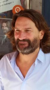 """Frédéric Beigbeder en dédicace à la Libraire """"Jusqu'aux lueurs de l'aube"""", 07 septembre 2014 @ Martin R."""