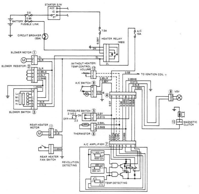 1970 toyota land cruiser wiring diagram dvc6200 sis fj60 air conditioningfj60 20