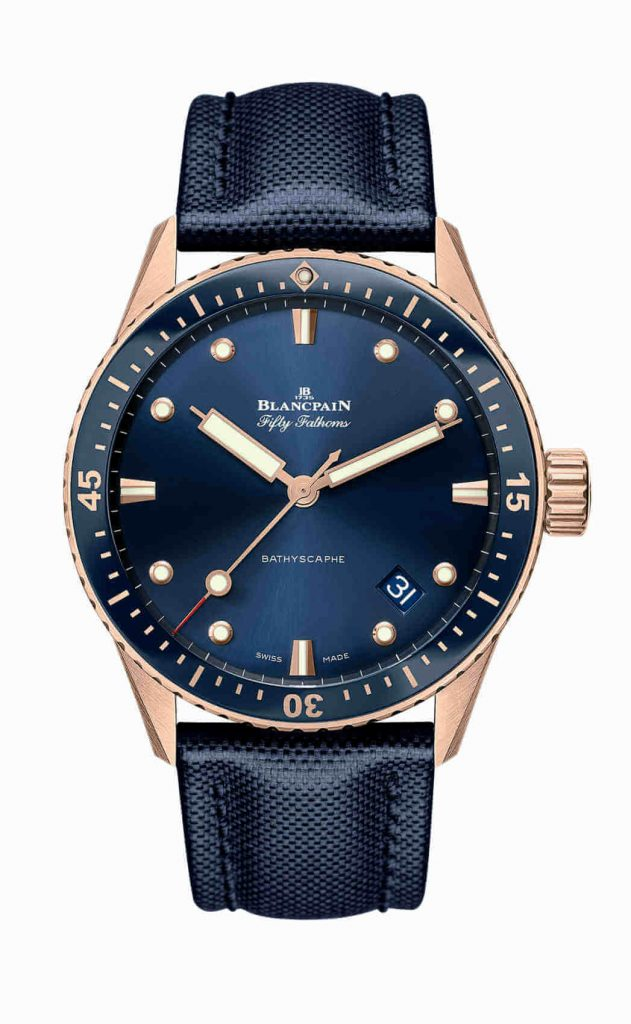 Blancpain Fifty Fathoms Bathyscaphe Sedna Gold front 2