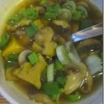 Pittige Indische Groente Seitan Soep