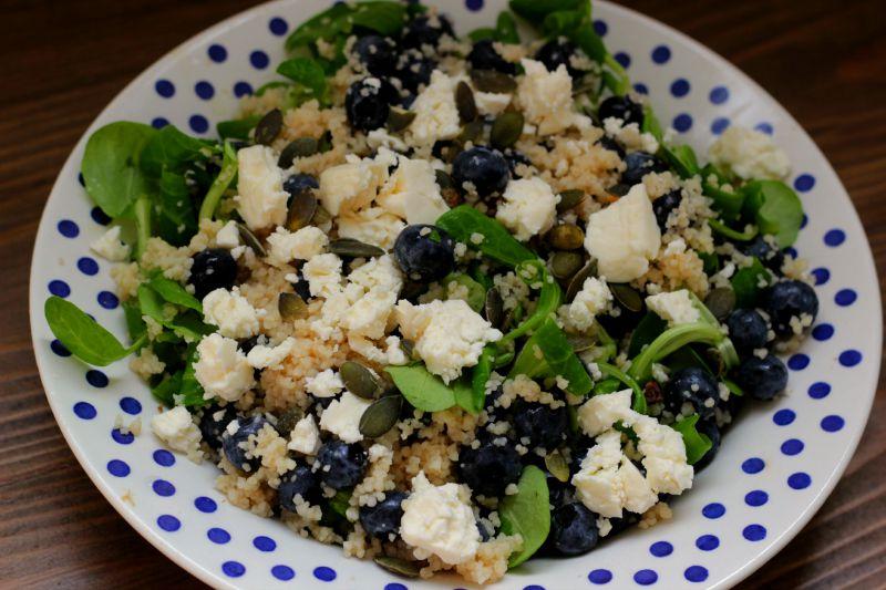 Salade Inspiratie: Blauwe bessen couscous salade