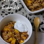 Vegan Kerstmenu Nagerecht: Kokos Mango Crumble