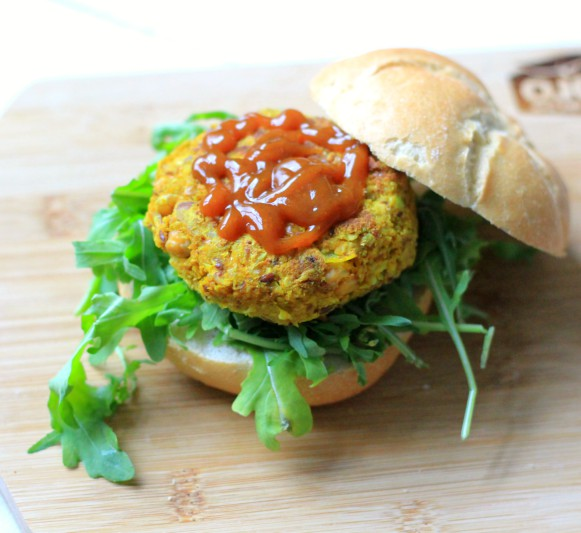 Curry Pompoen Burger