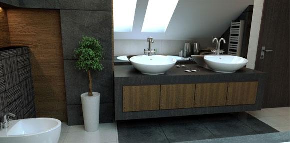 Bao con diseo minimalista  Muebles de Bao  deBanosCom