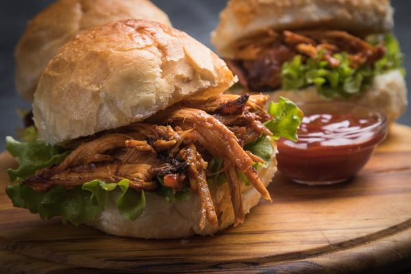bigstock Burger with pulled pork class 267843748