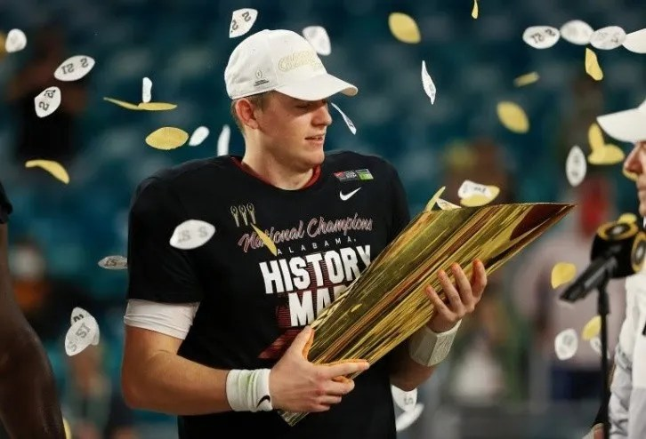 Mac Jones ended his career with Alabama being the NCAA champion