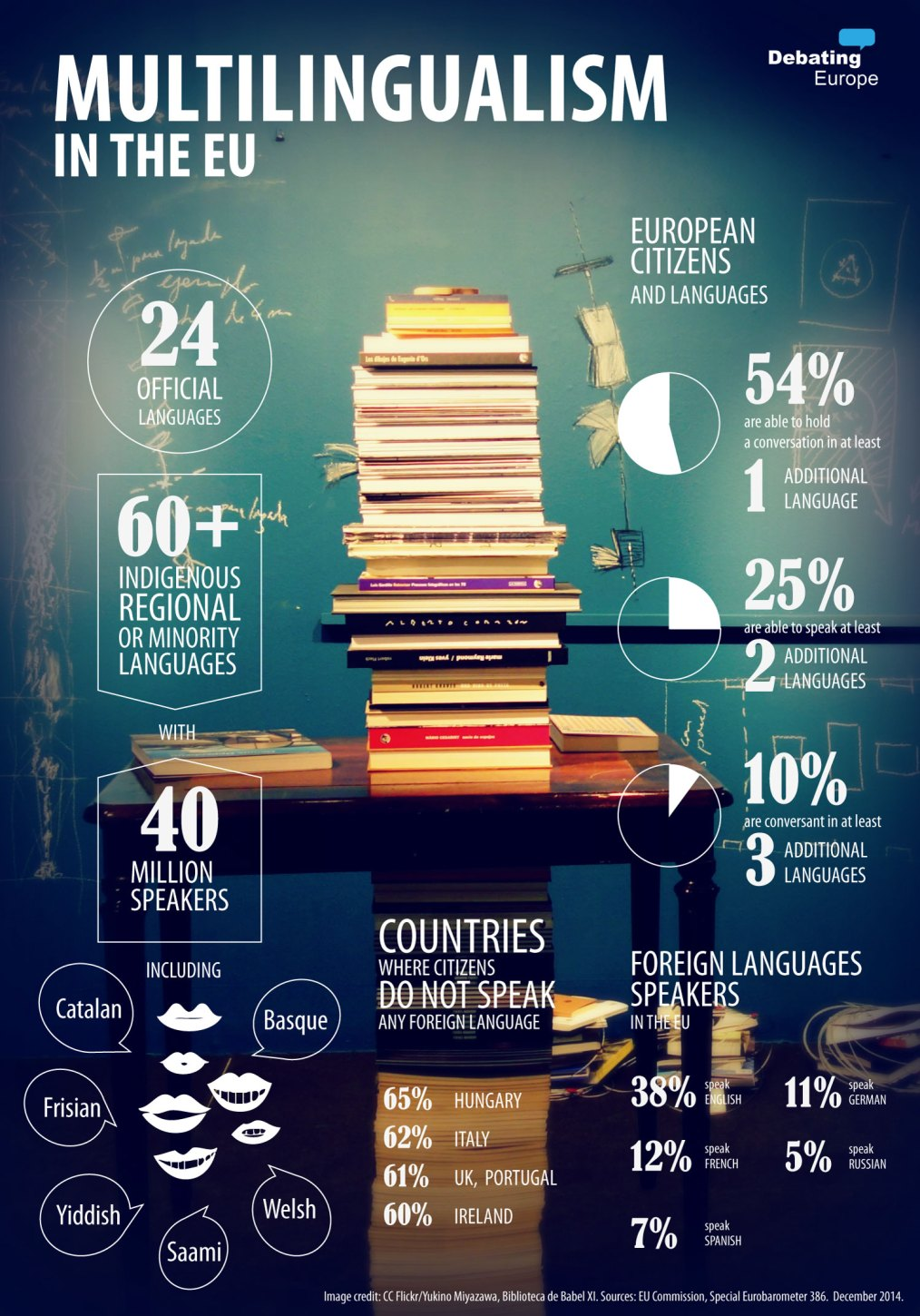 English will continue to be spoken in Brussels. Infographic: Multilingualism in the EU - Courtesy by Debating Europe. Elcano Blog.