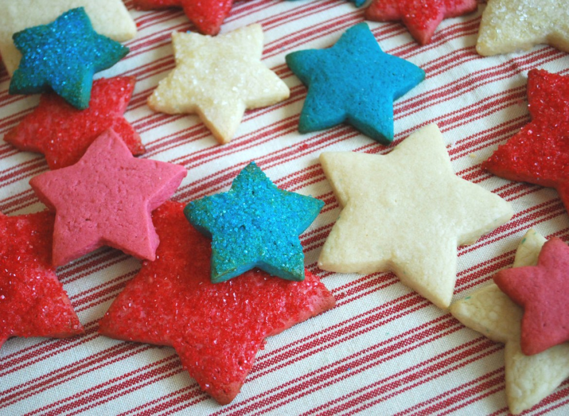 Gluten-Free Red, White and Blue Sugar Cookie Stars