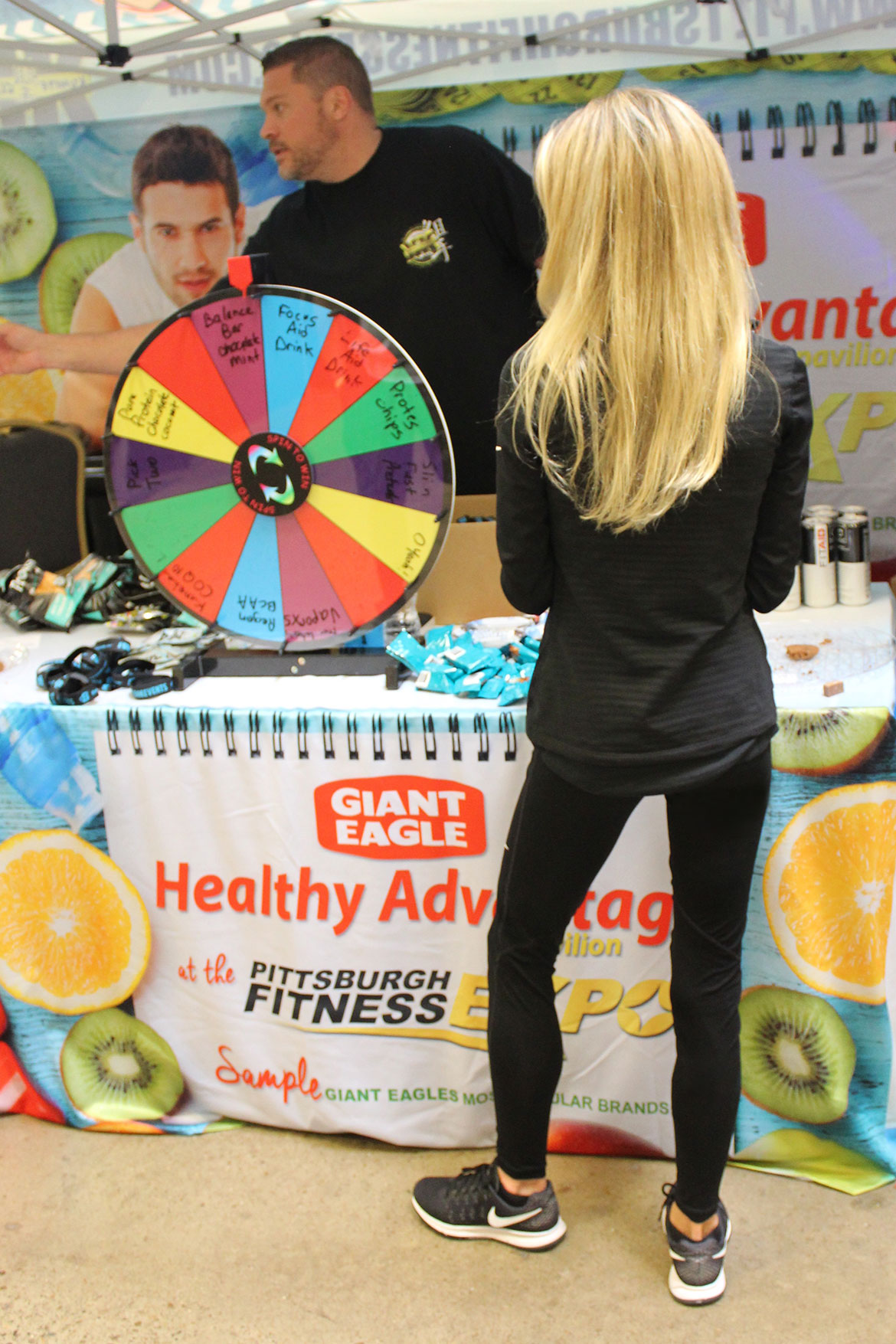 Deba Wilson at the Healthy Advantage Pavilion at the Pittsburgh Fitness Expo