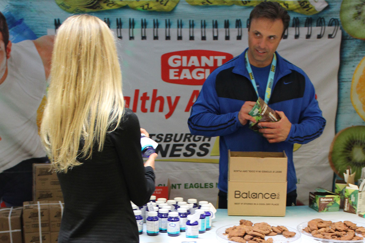 Learning about Nutritional Supplements at a Fitness Expo