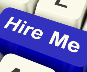 Hire Me Computer Key Showing Work And Careers Search Online