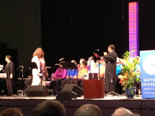 Melissa walking across the stage at GA, 2013