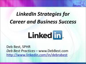 LinkedIn Strategies for Career and Business Success rev. April 2014