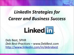 LinkedIn Strategies for Career and Business Success rev. April 2014