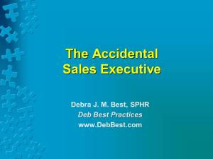 The Accidental Sales Executive rev. 3 May 2015