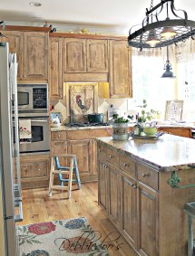 French Country Kitchen Style Freshened - Debbiedoos