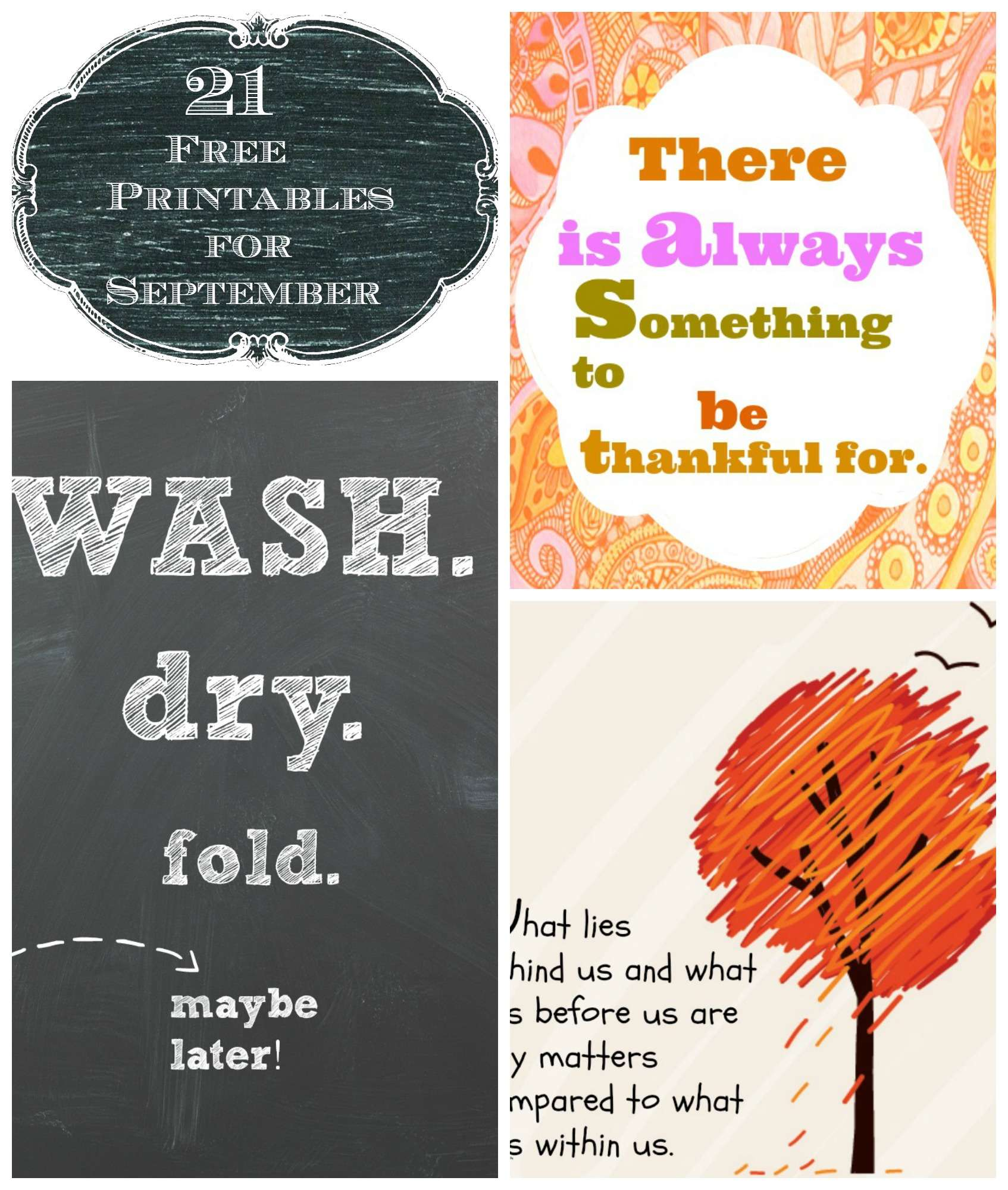 21 Free Printables For The Month Of September