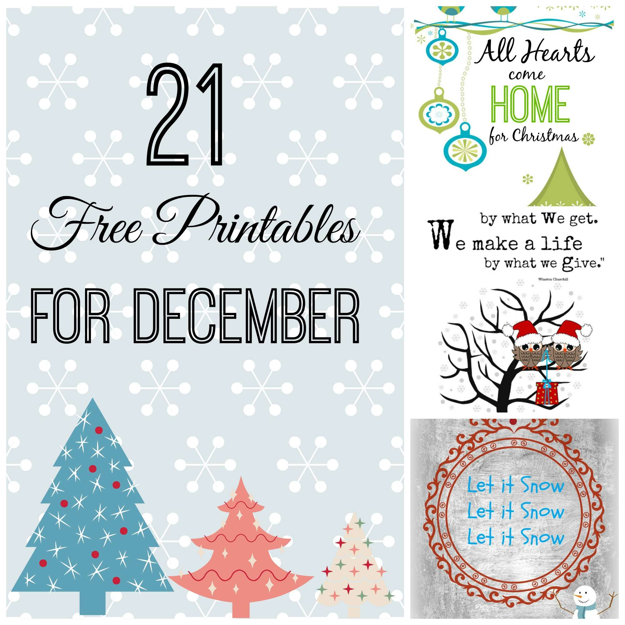 20 Printables For December